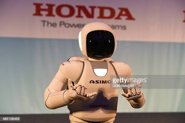 Honda North America makes their North American debut of their new Asimo Robot as it demonstrates its ability to sign at a news conference...