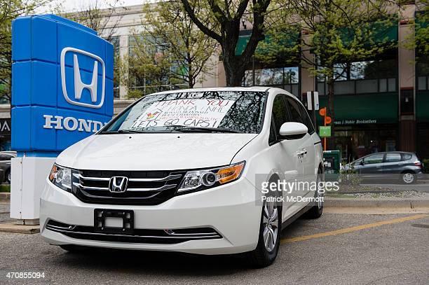 Honda presents a new 2015 Honda Odyssey minivan to the Ronald McDonald House of Charities of Greater Washington DC as part of Honda's partnership...