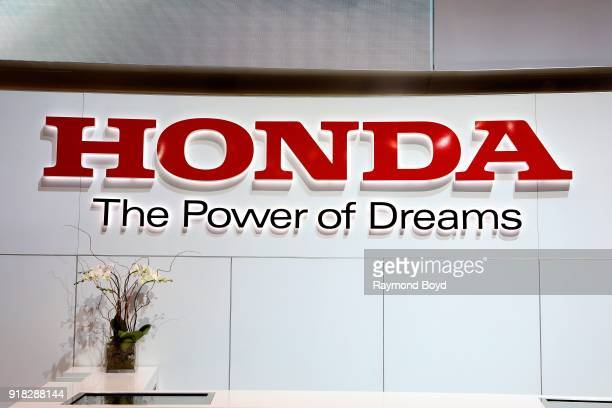 Honda signage is on display at the 110th Annual Chicago Auto Show at McCormick Place in Chicago, Illinois on February 8, 2018.