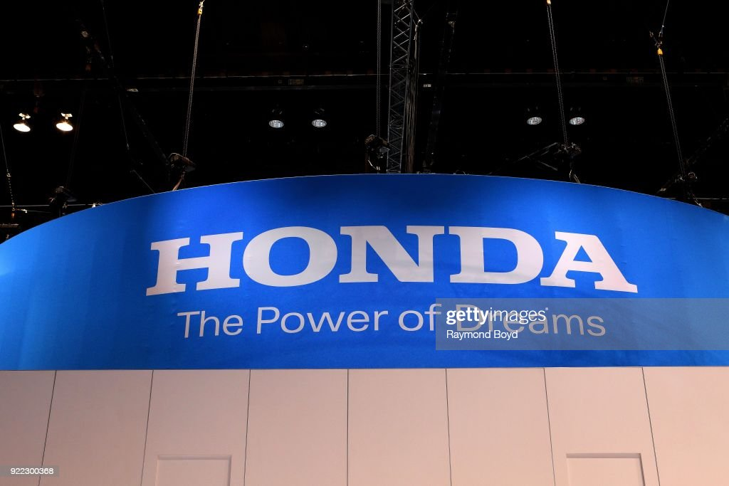 Honda signage is on display at the 110th Annual Chicago Auto Show at McCormick Place in Chicago, Illinois on February 9, 2018.