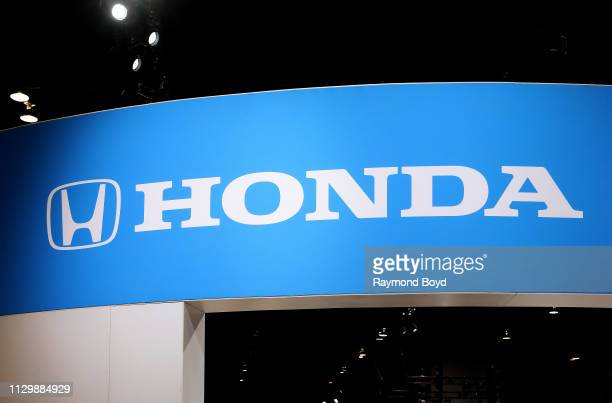 Honda signage is on display at the 111th Annual Chicago Auto Show at McCormick Place in Chicago Illinois on February 7 2019
