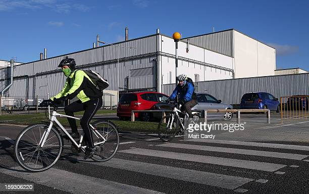 Honda workers leave their shift at the Honda car assembly plant following the announcement that the firm is to axe 800 jobs on January 11 2013 in...