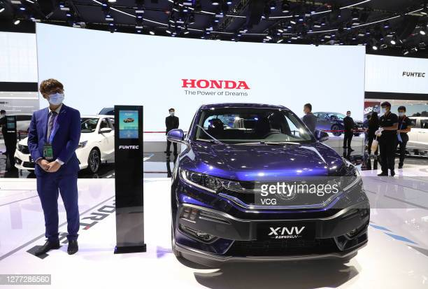 Honda X-NV electric SUV is on display during 2020 Beijing International Automotive Exhibition at China International Exhibition Center on September...