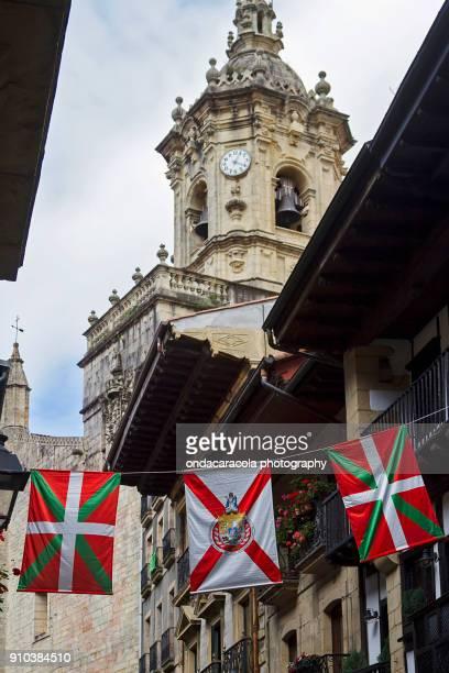 hondarribia town in basque country - pais vasco fotografías e imágenes de stock