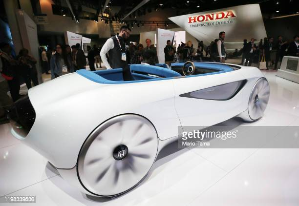 Honda's Augmented Driving Concept is displayed at CES 2020 at the Las Vegas Convention Center on January 8, 2020 in Las Vegas, Nevada. The concept...
