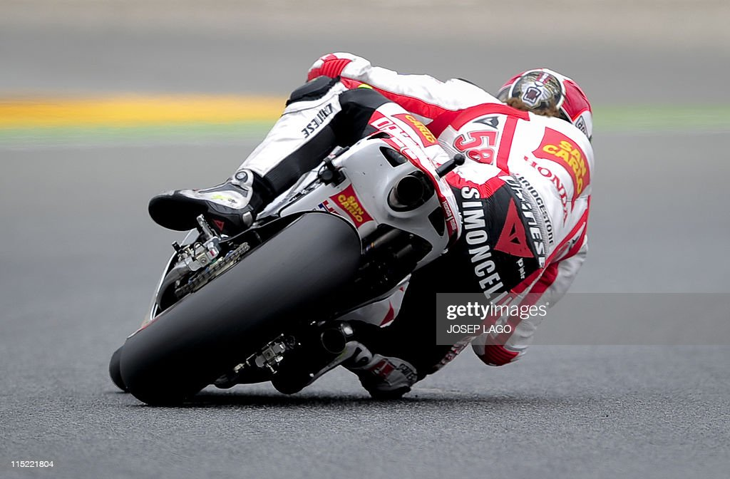 Honda\'s Gresini Italian rider Marco Simo Pictures | Getty Images