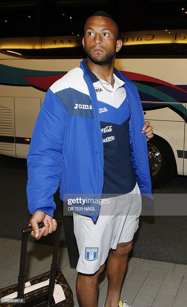 Hondouras national football team defender Victor Bernardez arrives at the team hotel on May 25, 2010 in Troepolach some 420 kilometers south west from Vienna for training ahead of the FIFA World Cup 2010 to be held in South Africa.