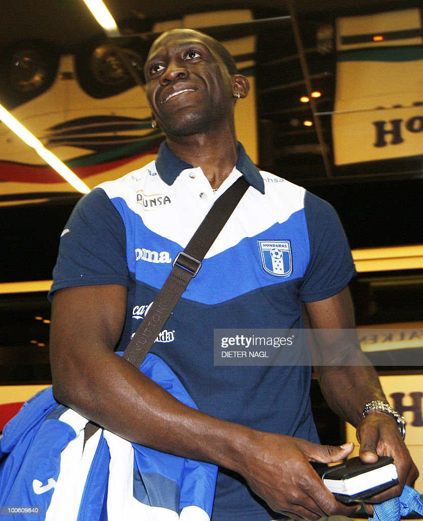 Hondouras national football team player Hendry Thomas arrives at the team hotel on May 25, 2010 in Troepolach some 420 kilometers south west from Vienna for training ahead of the FIFA World Cup 2010 to be held in South Africa.