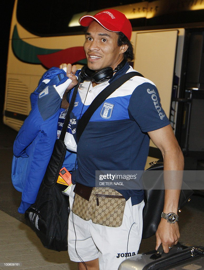 Hondouras national football team player Julio Leon arrives at the team hotel on May 25, 2010 in Troepolach some 420 kilometers south west from Vienna for training ahead of the FIFA World Cup 2010 to be held in South Africa.
