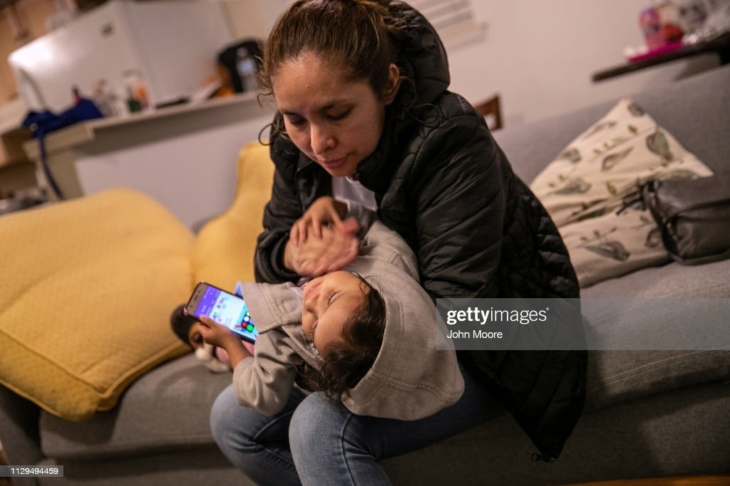 After Detention And Release, Undocumented Mother And Child Wait For Day In Immigration Court : News Photo
