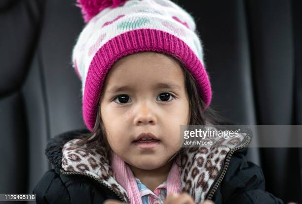 Honduran asylum seeker Yanela Sanchez 2 1/2 sits with her mother Sandra Sanchez on February 13 2019 in the greater Washington DC area Photographs of...