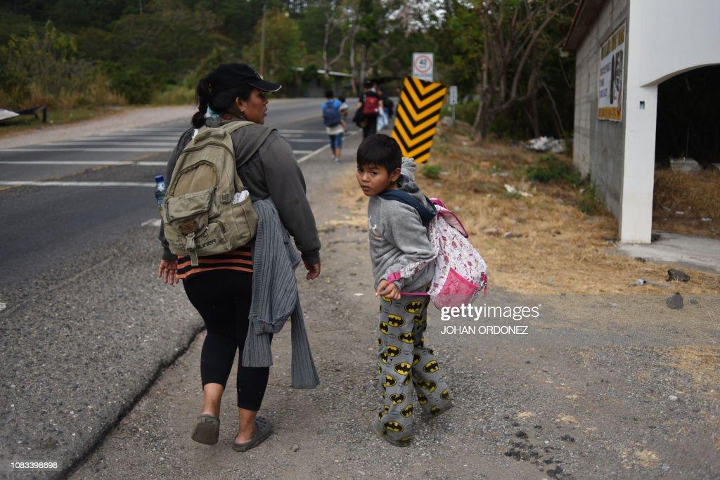 GUATEMALA HONDURAS US MIGRATION SECOND CARAVAN News Photo