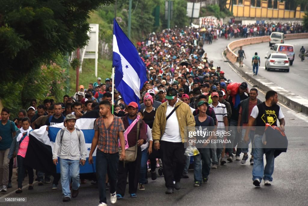 TOPSHOT-GUATEMALA-HONDURAS-US-MIGRATION : News Photo