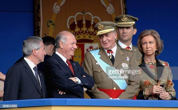 Honduran President Ricardo Maduro Chilean President Ricardo Lagos Spanish Royal's King Juan Carlos Crown Prince Felipe and Queen Sofia attend Spain's...