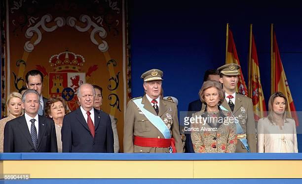 Honduran President Ricardo Maduro Chilean President Ricardo Lagos Spanish Royal's King Juan Carlos Queen Sofia Crown Prince Felipe and Princess...