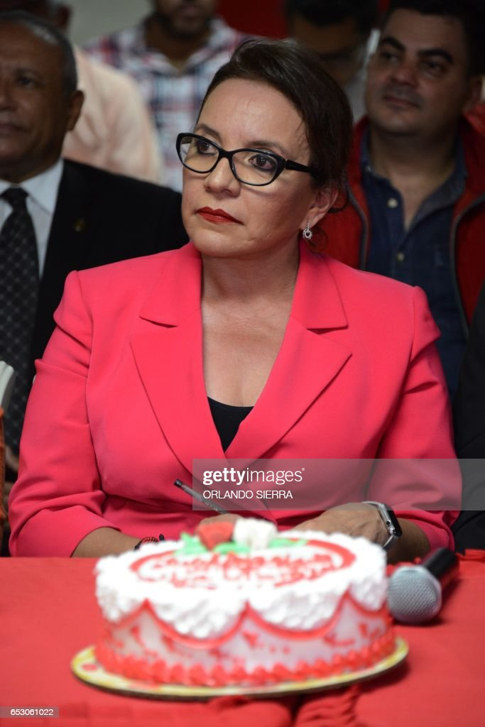 Honduran presidential candidate for the opposition LIBRE party, Xiomara Castro de Zelaya is pictured in Tegucigalpa, on March 13, 2017. SIERRA