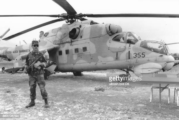 Honduranisches Militär bewacht von Sandinisten entführtes sovietisches Kriegsgerät