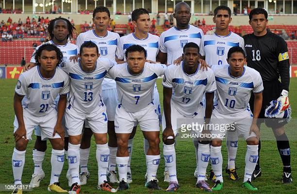 Honduran's players Walter Martinez Mauricio Sabillon Johnny Leveron Osman Chavez Jorge Claros and Noel Valladares and Mario Martinez Alfredo Mejia...