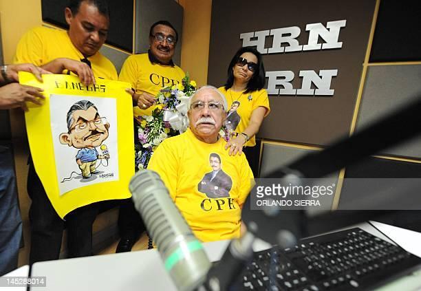 Honduras' Commissioner for human rights Ramon Custodio Lopez Ramon Custodio Lopez sits on the chair of HRN la Voz de Honduras' murdered journalist...