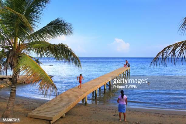 Honduras, Islas de la Bahia, Roatan Island. Coxen Hole