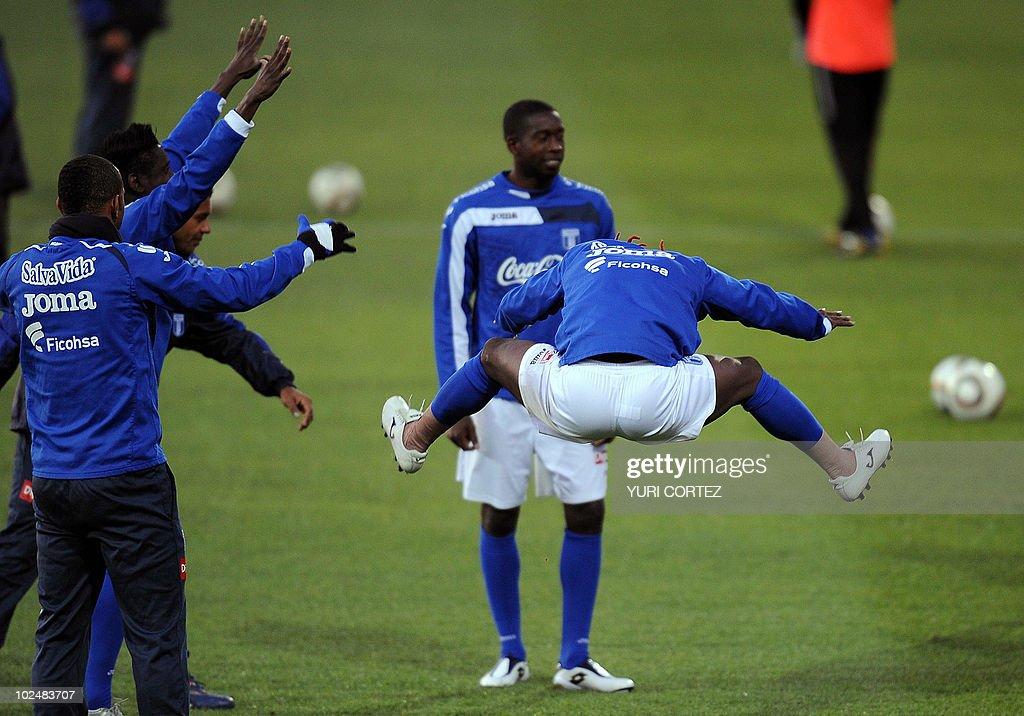 Honduras national footballer Walther Mar : News Photo