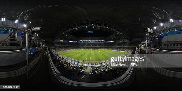 Honduras plays Ecuador during a 2014 FIFA World Cup Brazil Group E match at Arena da Baixada on June 20, 2014 in Curitiba, Brazil.