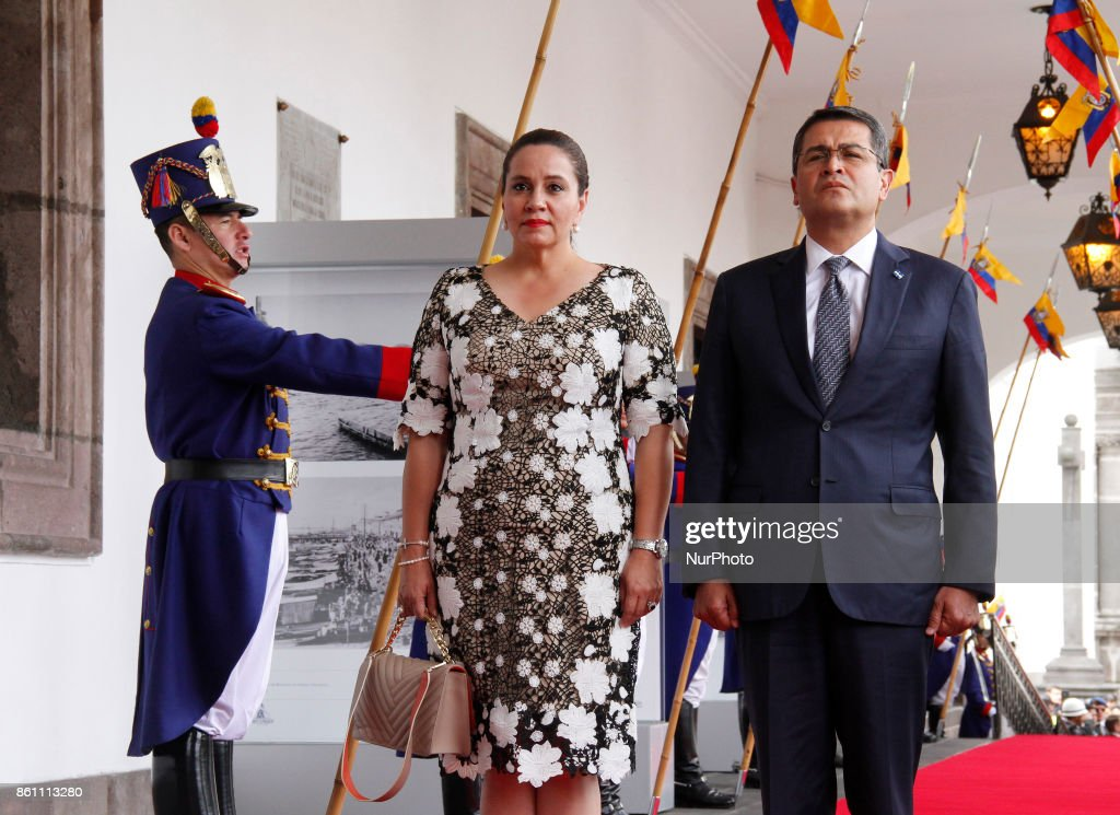Honduras' President State visits in Ecuador