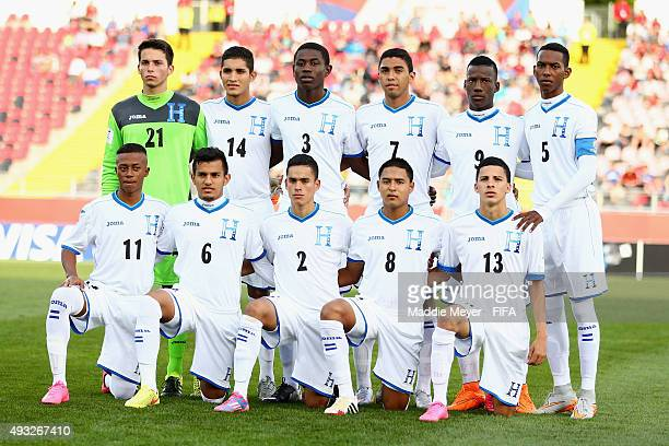 Honduras stands for a photo before their FIFA U17 Men's World Cup Chile 2015 group D match between Honduras and Ecuador at Estadio Fiscal de Talca on...