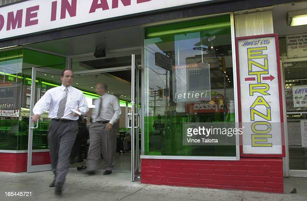 EDS 10/03/02 Honest Ed's that icon of lowcost unhip living has given over its most prominent corner to a highend cafe and juice bar Lettieri which...