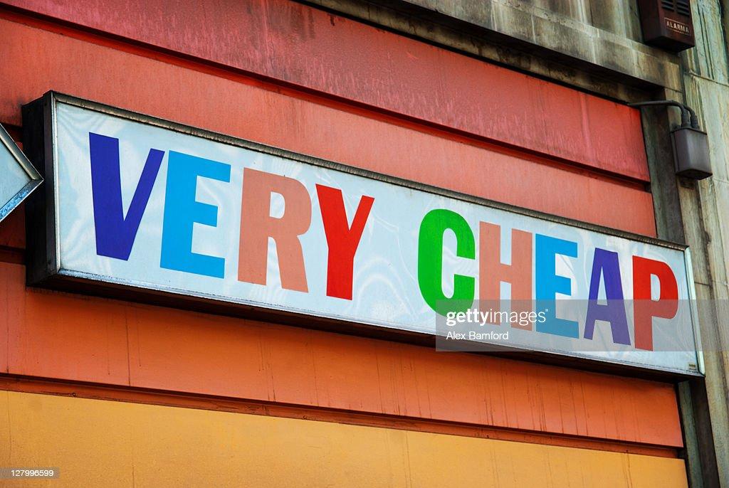 Honest shop sign in Barcelona : Stock Photo