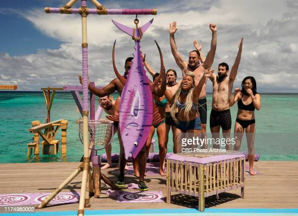 Honesty Would Be Chill Tommy Sheehan Jamal Shipman Jack Nichting Lauren Beck Dan Spilo Jason Linden and Kellee Kim on the third episode of SURVIVOR...