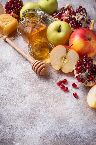 Honey, apple and pomegranate for Rosh Hashana 1160161024