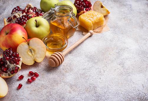 Honey, apple and pomegranate for Rosh Hashana 1160161047