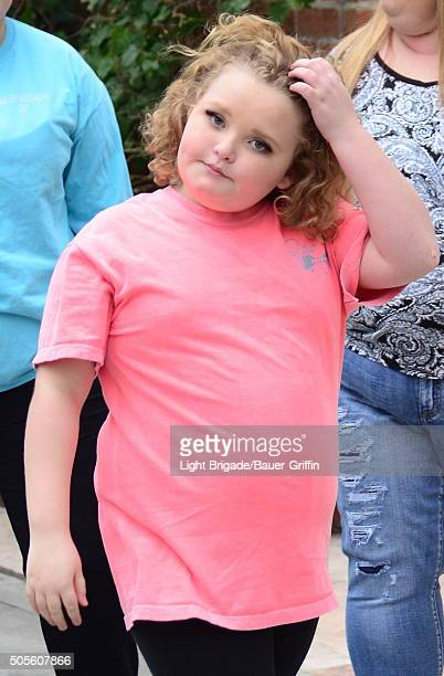 Honey Boo Boo and her mom Mama June along with sister Pumpkin in Beverly Hills, Ca on January 18, 2016 in Los Angeles, California.