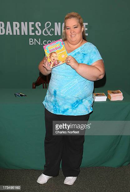 Honey Boo Boo's mother June Shannon attends the 'How To Honey Boo Boo The Complete Guide' Book Event on July 15 2013 in New York New York