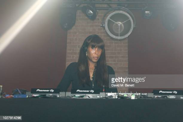 Honey Dijon performing at the Axel Arigato launch at Village Underground on September 6 2018 in London England