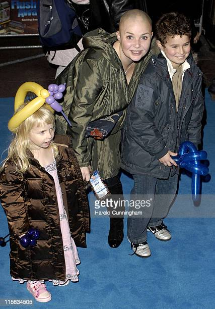Honey Hipgrave Gail Porter and guest during Flushed Away London Premiere Arrivals at Empire Leicester Square in London Great Britain