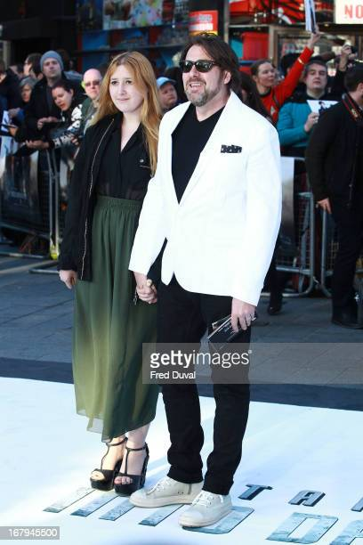 Honey Kinney Ross and Jonathan Ross attend the UK Premiere of 'Star Trek Into Darkness' at The Empire Cinema on May 2, 2013 in London, England.