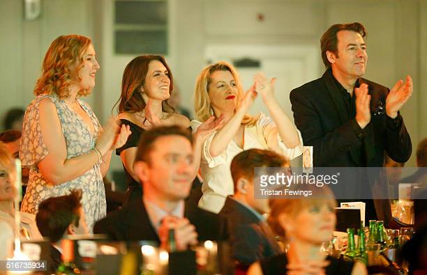 Honey Kinney Ross, Emily Dean, Jane Goldman and Jonathan Ross during the Jameson Empire Awards 2016 at The Grosvenor House Hotel on March 20, 2016 in...