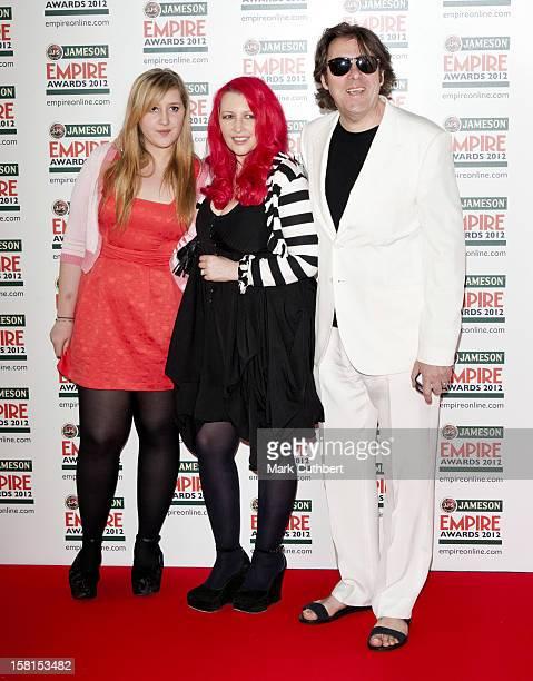 Honey Kinney Ross Jane Goldman And Jonathan Ross Arriving At The Jameson Empire Film Awards Held At The Grosvenor House Hotel London