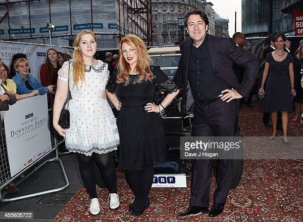 Honey Kinney Ross, Jane Goldman and Jonathan Ross attend an exclusive charity preview screening of Downton Abbey at Empire Leicester Square on...