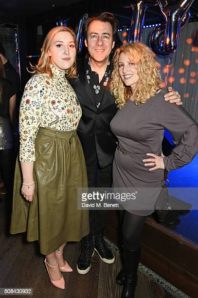 Honey Kinney Ross, Jonathan Ross and Jane Goldman attend the InStyle EE Rising Star party ahead of the EE BAFTA Awards at 100 Wardour St on February...