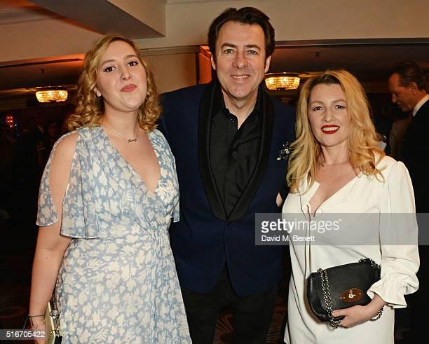 Honey Kinney Ross, Jonathan Ross and Jane Goldman attend the Jameson Empire Awards 2016 at The Grosvenor House Hotel on March 20, 2016 in London,...