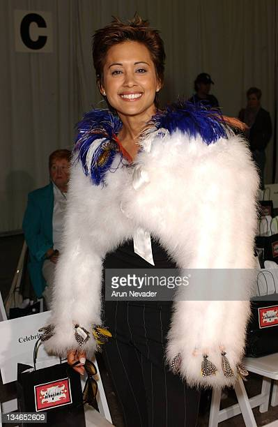 Honey Labrador during MercedesBenz Fall 2005 LA Fashion Week at Smashbox Studios Meghan Front Row at Smashbox Studios in Culver City California...