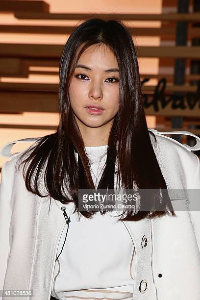 Honey Lee attends the 'Salvatore Ferragamo' Show as part of Milan Fashion Week Menswear Spring/Summer 2015 on June 22, 2014 in Milan, Italy.