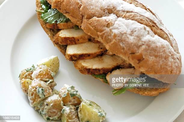 Honey Mustard Chicken Balsamic Arugula Sandwich