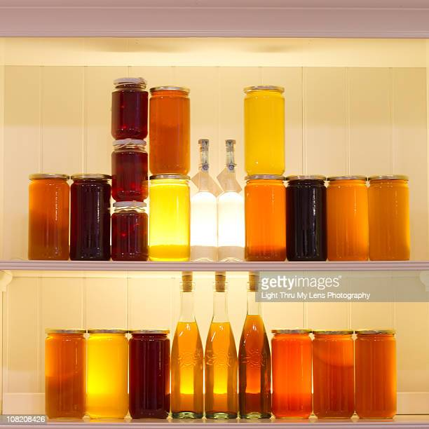 Honey pots and mead bottles