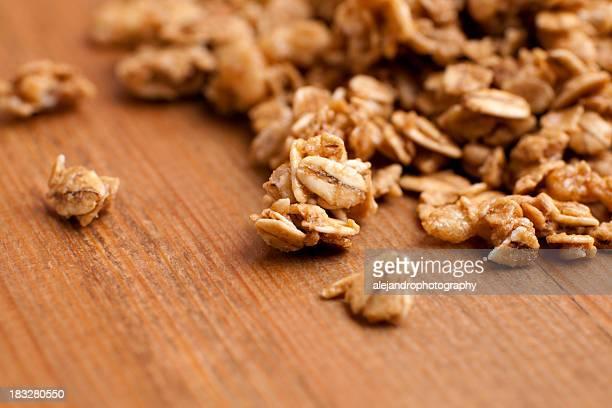 Honey roasted granola clusters