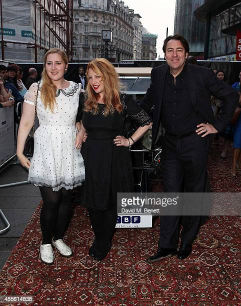 """Honey Ross, Jane Goldman and Jonathan Ross attend a charity preview screening of """"Downton Abbey"""" at the Empire Leicester Square on September 17, 2014..."""