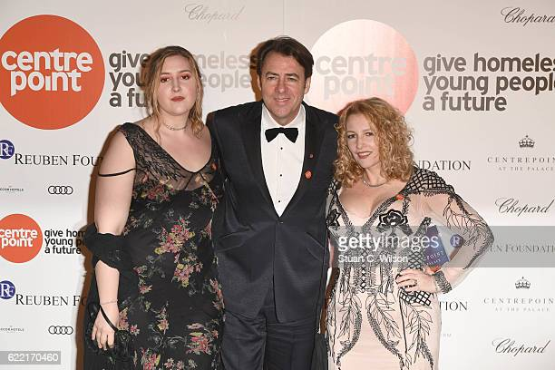 Honey Ross, Jonathan Ross and Jane Goldman attend Centrepoint At The Palace at Kensington Palace on November 10, 2016 in London, England.